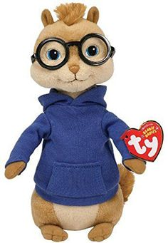 bb94b0ee216 Official Ty Alvin And The Chipmunks 7 Simon Plush Toy Soft Doll Gift
