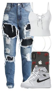 """Untitled #5937"" by rihvnnas ❤ liked on Polyvore featuring Sonix, LE3NO and NIKE"
