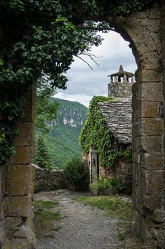 St-Veran Archway, Midi-Pyrenees, France