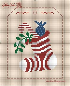 Christmas stocking cross stitch.