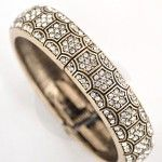 Sparkling Oxidized Bracelet  $11.99  This Sparkling Oxidized bracelet featuring a detailed rhinestone pattern with pressed accents. It gives vintage metal look. One size fits most. It has an  hinged magnetic closure.  Width : 2.0″ approx.  Diameter : 2.5″ approx  http://zealle.com/product/bracelets/sparkling-oxidized-bracelet/