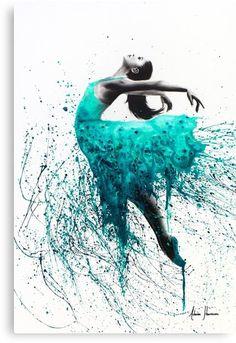 'Fairy Ballet Dancer' Canvas Print by Ashvin Harrison Art Ballet, Ballerina Painting, Ballerina Art, Ballet Drawings, Dancing Drawings, Art Drawings, Dance Paintings, Australian Art, Art Abstrait
