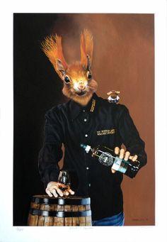 Fine Art Print Society Squirrel. Scotch Pop by carollyneyardley, $100.00