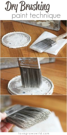Learn this easy dry brushing paint technique for furniture, crafts, and more! via LoveGrowsWild.com