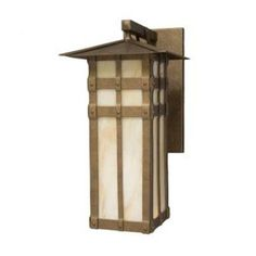 Steel Partners San Carlos 1 Light Outdoor Wall Lantern Finish: Rust, Shade Type: Slag Glass Pretended