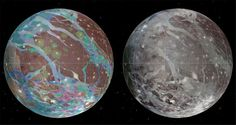 Galileo Meets Ganymede [USGS Astrogeology Science Center/Wheaton/NASA/JPL-Caltech] Monday, June 27, 2016: Twenty years ago today, on June 27, 1996, the Galileo spacecraft (the first space probe to orbit Jupiter) made its first close flyby of the moon Ganymede. This image was created in 2014 using data from Galileo, as well as the Voyager probes, and shows the geologic detail of the moon's surface. — Calla Cofield