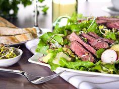Sophisticated Summer Salad: Flank Steak Radish And Ginger Salad
