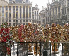 This was an art installation by Ha Schult in the Grand-Place in Brussels.  These fiures were made out of trash!