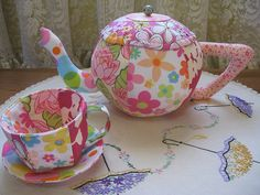 Fabric Tea Cup set <3