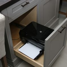 Printer Storage Design Ideas, Pictures, Remodel and Decor