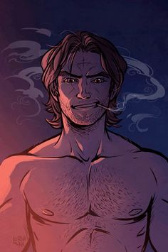 "lorna-ka: "" I had to dedicate at least one whole picture to the glorious thing that is Bigby's chest "" Comic Books Art, Comic Art, Fables Comic, Character Art, Character Design, The Wolf Among Us, Manga Anime, Fanart, Brave"