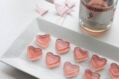 Pink Champagne Heart Shaped Jello Shots