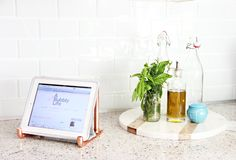 Copper Pipe iPad Holder | A Bubbly Life We have a family member who loves to cook but already has every gadget, machine and cook book in the world. It's so hard to buy gifts for her, especially at...