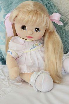 Vintage My Child Doll - European Blonde UL Dressed in Original Pink Ducky Dress