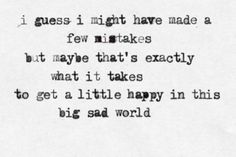 Mistakes...