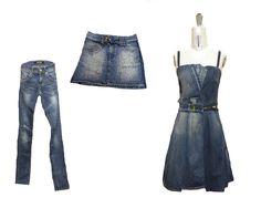 Before: Jeans + denim skirt. After: Dress.