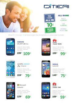 Attiva All-in One a soli 10 € al mese e puoi scegliere il tuo #smartphone ad un prezzo super conveniente! E in più hai minuti ed sms illimitati e Internet veloce 2 GB. Approfittane!