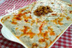 Ελαφριά και νόστιμη Σαλάτα κουνουπιδιού με γιαούρτι Turkish Kitchen, Salad Bar, Cheeseburger Chowder, Quiche, Salad Recipes, Mashed Potatoes, Macaroni And Cheese, Salads, Soup