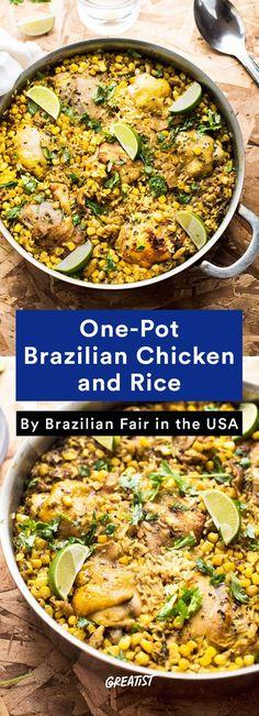 3. One-Pot Brazilian Chicken and Rice #healthy #Brazilian #recipes http://greatist.com/eat/brazilian-recipes-that-are-surefire-winners