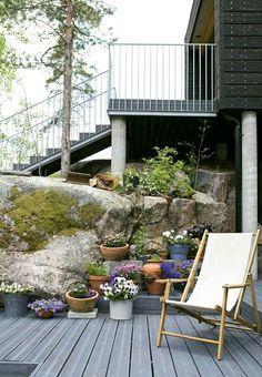 Terassi korvaa nurmikon nurmikko pois ei nurmikkoa piha puutarha