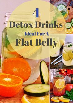 4 Homemade Detox Drinks – Ideal For A Flat Belly