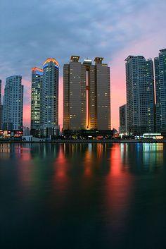 Sunset in Busan, Korea Tim has ported 5/11/2013