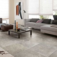 Details: Photo features Gallant Gray 24 x 24 field tile on the floor.