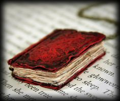 Beloved Book Locket Necklace Handmade Jewelry by NeverlandJewelry, $32.00
