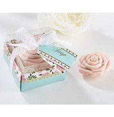 Kate Aspen Set of 6 Tea Time Whimsy Pink Rose Soap