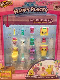 Shopkins Happy Places Bathing Bunny Decorator's Pack NEW #MooseToys