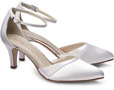 Brautschuh HARPER von Rainbow Club in weiß für Damen. Gr. 37 1 2,40 1 2