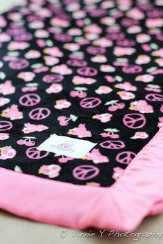 pink and black, peace, skulls, and cherries