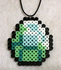 Minecraft Diamomd Handcrafted Necklace Perler Beads Great Xmas Gift | eBay