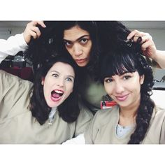 We are so psyched to be back on the @oitnb set #season4 love my ladies…