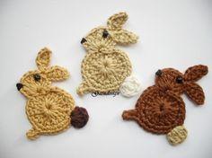 Crochet bunnies.