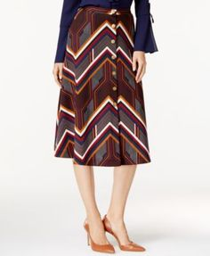 NY Collection Printed Ponte A-Line Skirt $36.99 A perfect pick for the season, this printed ponte boot skirt by NY Collection features a button down front profile and an A-line silhouette for a fabulous day to evening style.