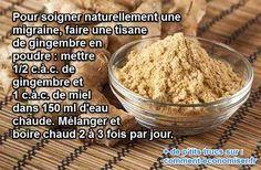 Il existe heureusement un remède naturel très efficace pour soulager la migraine : c'est le gingembre.  Découvrez l'astuce ici : http://www.comment-economiser.fr/migraine-gingembre.html?utm_content=buffer13a5d&utm_medium=social&utm_source=pinterest.com&utm_campaign=buffer