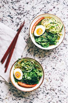 Slow Cooker Miso Ramen with Broccoli Rabe & Zucchini Noodles