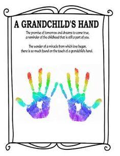 Grandparents Day Poem, Grandparents Day Activities, Grandmas Mothers Day Gifts, Grandparent Gifts, Toddler Art, Toddler Crafts, Handprint Poem, Kids Prints, Foot Prints