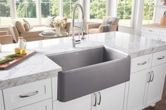 BLANCO IKON® Silgranit sinks-- available in apron sink