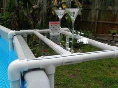 DIY Pool Shelf for an Above Ground Pool DIY - YouTube