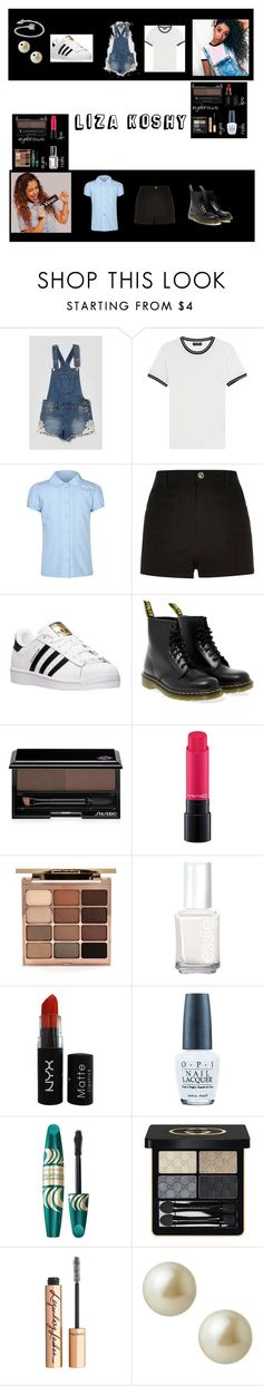 """LIZA KOSHY INSPIRED OUTFIT"" by alicjuh ❤ liked on Polyvore featuring Tinsel Denim Couture, rag & bone, George, River Island, adidas, Dr. Martens, Shiseido, MAC Cosmetics, Stila and Essie"