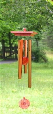 Woodstock Amber Chime.  Featuring a stunning windcatcher with a moveable center piece, the Woodstock Amber Chime appeals to all tastes. Did you know #Amber was worshipped by stone aged man as the tears of the sun? Boxed for gift-giving. Length: 20 inches. Consumer warranty is 1 year for anything - lifetime on tuning. Cannot sell into Canada per manufacturer.  #windchime #windchimes