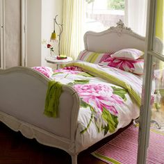 Very tempted by this colourful floral bed linen