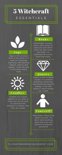 5 Witchcraft Essentials Infograph