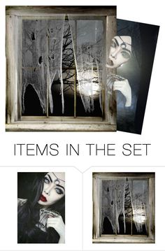 """""""I see you"""" by swgcreations ❤ liked on Polyvore featuring art and queenofdarkness"""
