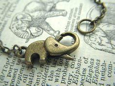 Elephant Necklace on Etsy