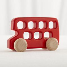 Double Decker Wooden Toy Bus