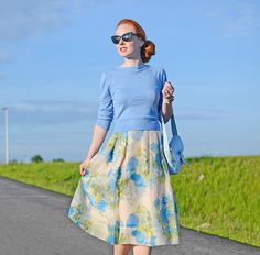 Super sweet outfit! Love the flowered skirt from Boden and the colors are terrific.
