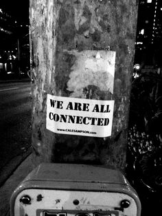 Toronto sticker street art.  Cale Sampson